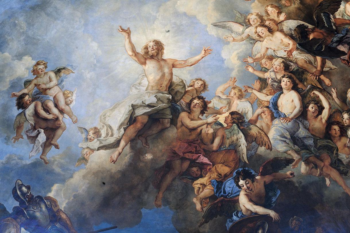 La chapelle royale du ch teau de versailles l 39 art de la - Fresque du plafond de la chapelle sixtine ...