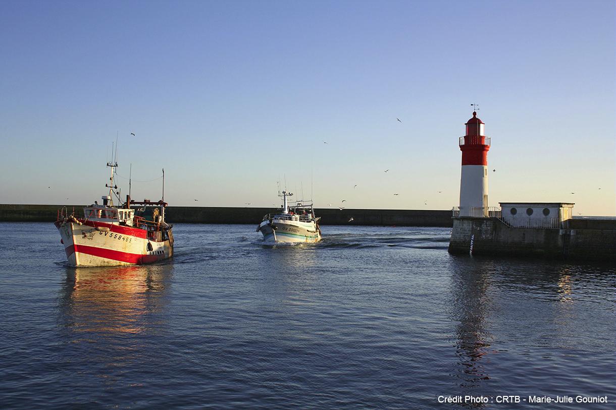 Le port du Guilvinec sur la côte de la Cornouaille