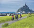 La Véloscénie au Mont-Saint-Michel (Manche)