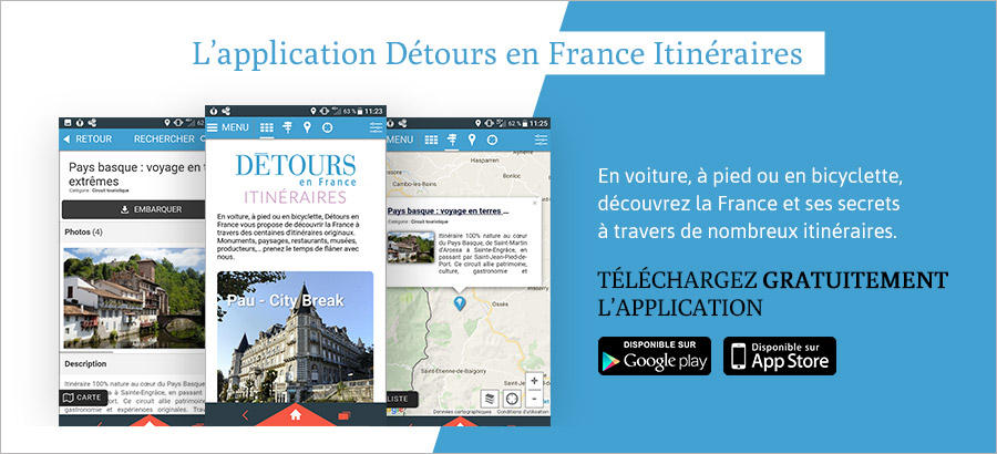 L'application Détours en France Itinéraires