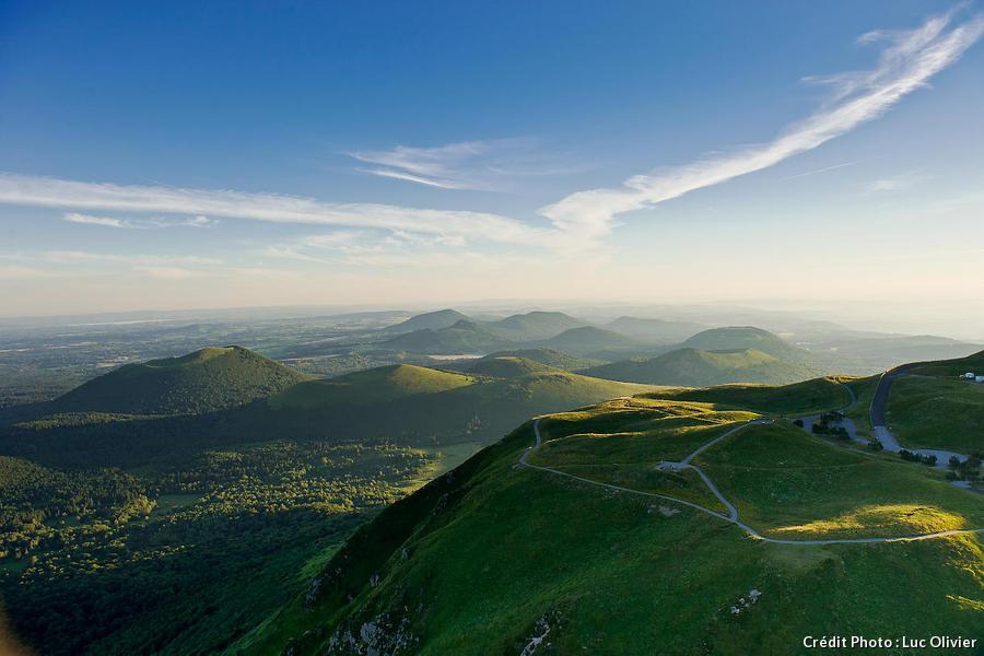 La chaîne des Puys, en Auvergne
