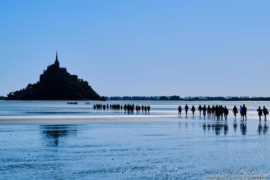 Randonnée dans la baie du Mont-Saint-Michel, Normandie