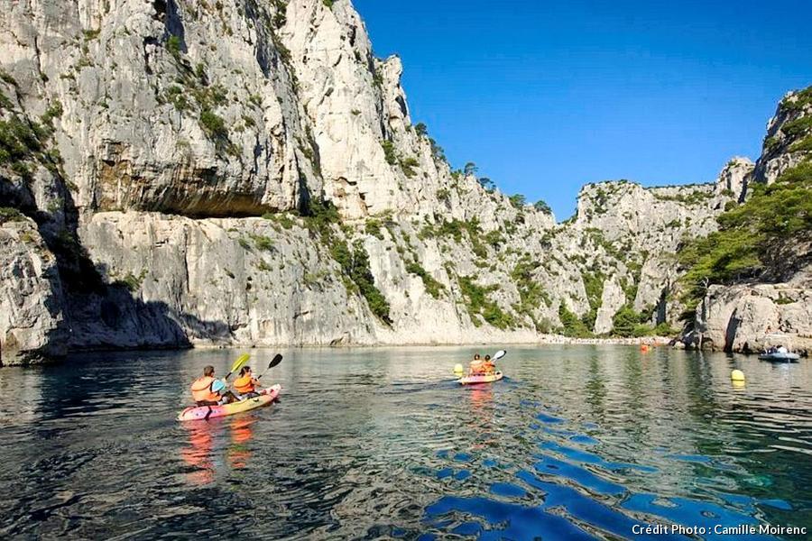 Calanque d'En Vau en kayak