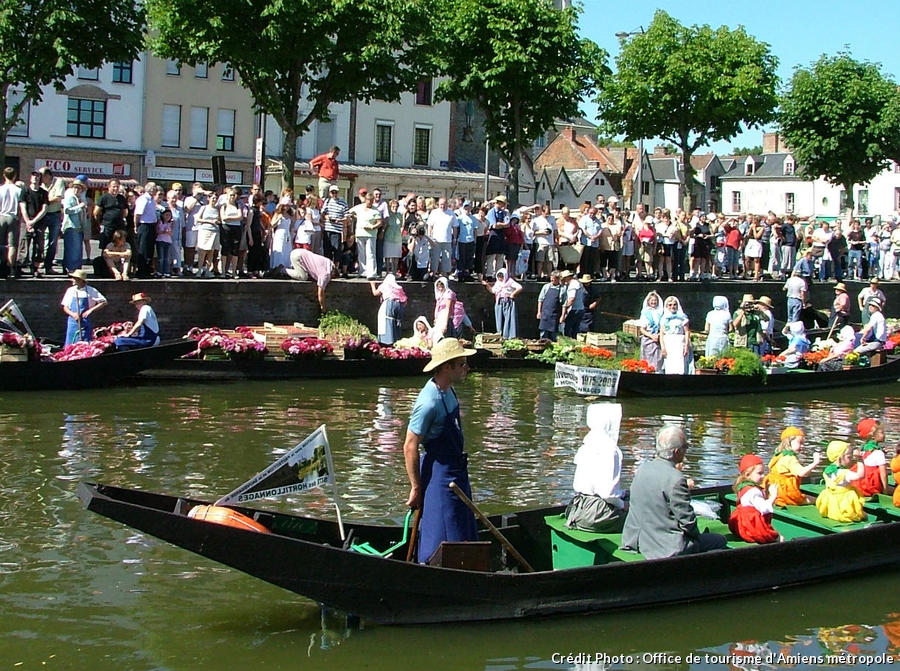 Le marché sur l'eau à Amiens