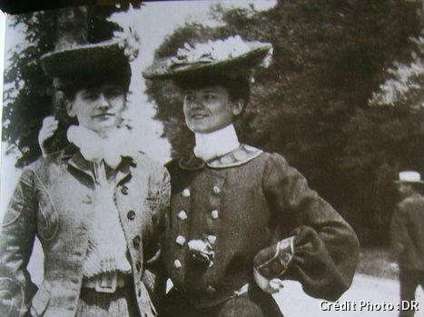 Coco Chanel et sa tante Adrienne