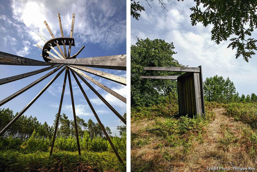 Deux œuvres contemporaines de la forêt entre La Teste et Mont-de-Marsan
