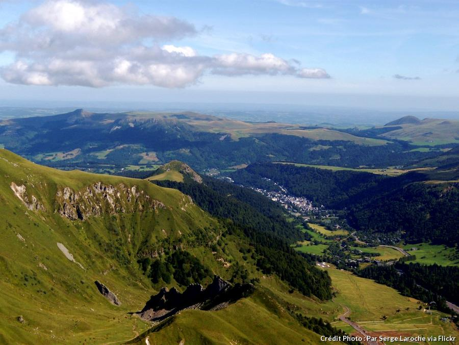 Circuit d'Auvergne donnant vue sur le Mont-Dore