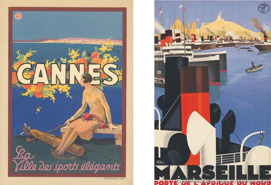 affiche Cannes et marseille