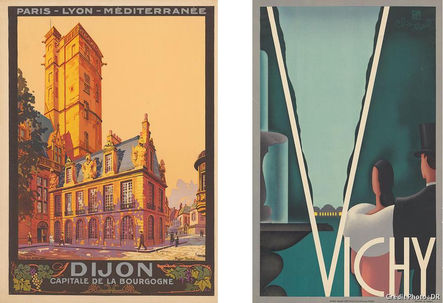 Affiches Dijon et Vichy