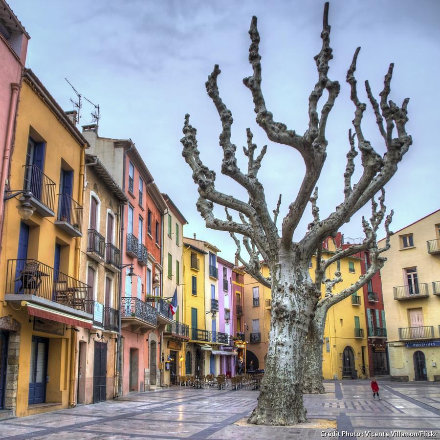 façades de maison à Collioure