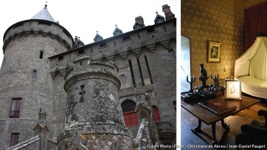 Entrée et intérieur du château