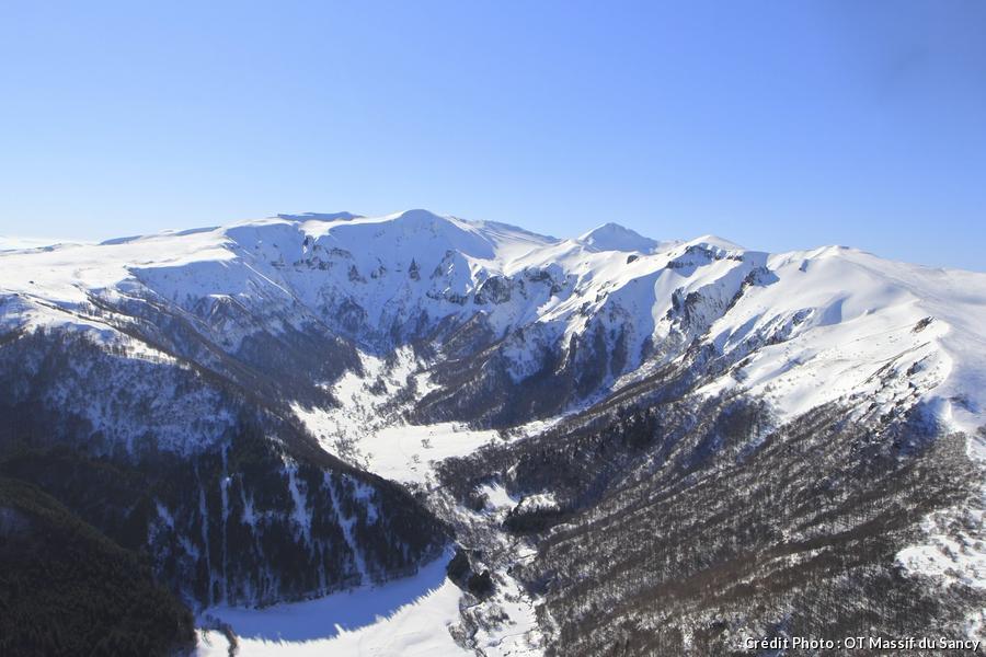 la vallée de Chaudefour en hiver