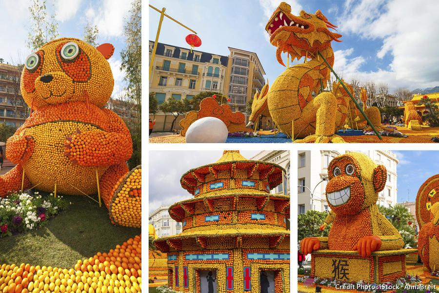 Des animaux construits en citron