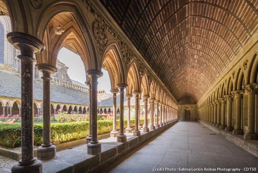 Le cloître de la Merveille du Mont Saint-Michel