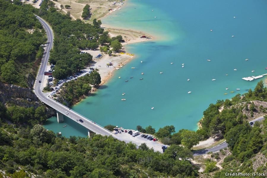 pont sur le lac de Sainte-Croix