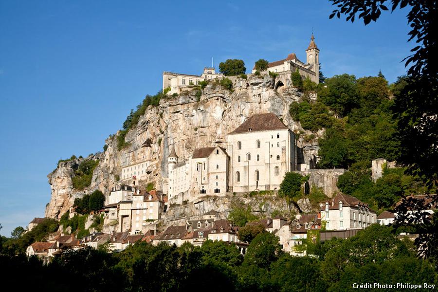 Vue de Rocamadour, en contre-plongée