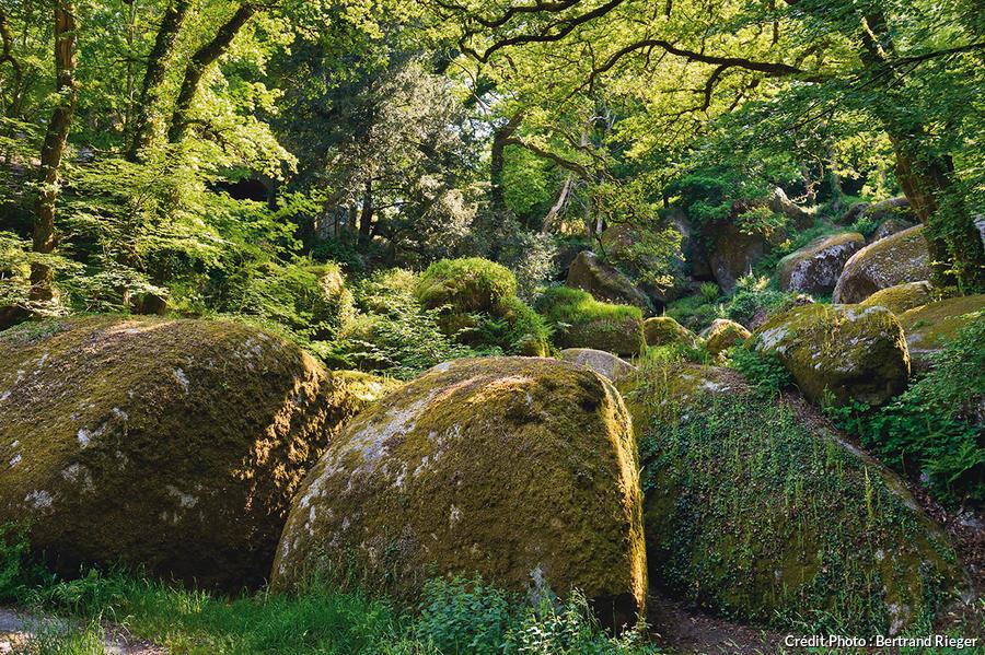 Grosses boules de granit dans la forêt de Huelgoat