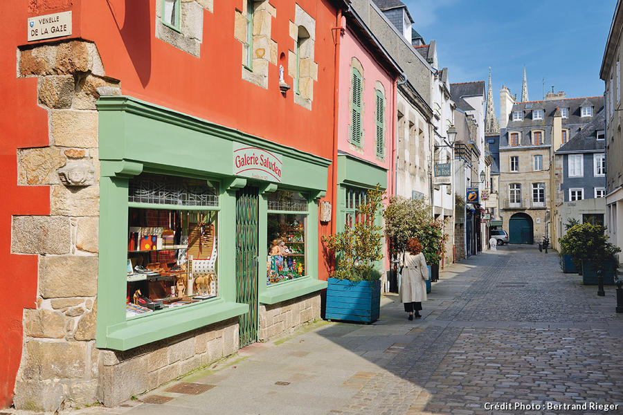 La rue Laennec à Quimper