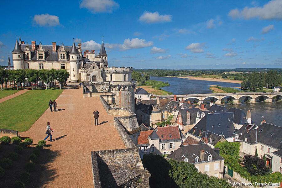 Château d'Amboise vu depuis la terrasse.