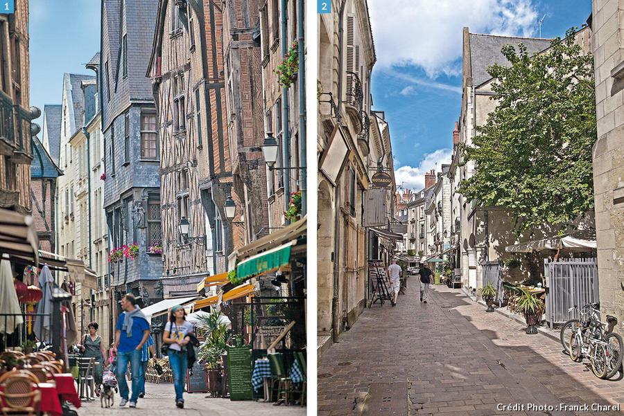 La rue du Grand-Marché et la rue de la Rotisserie à Tours