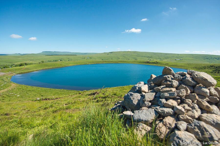 Le lac d'En-Haut, dans la réserve naturelle nationale des Sagnes de La Godivelle