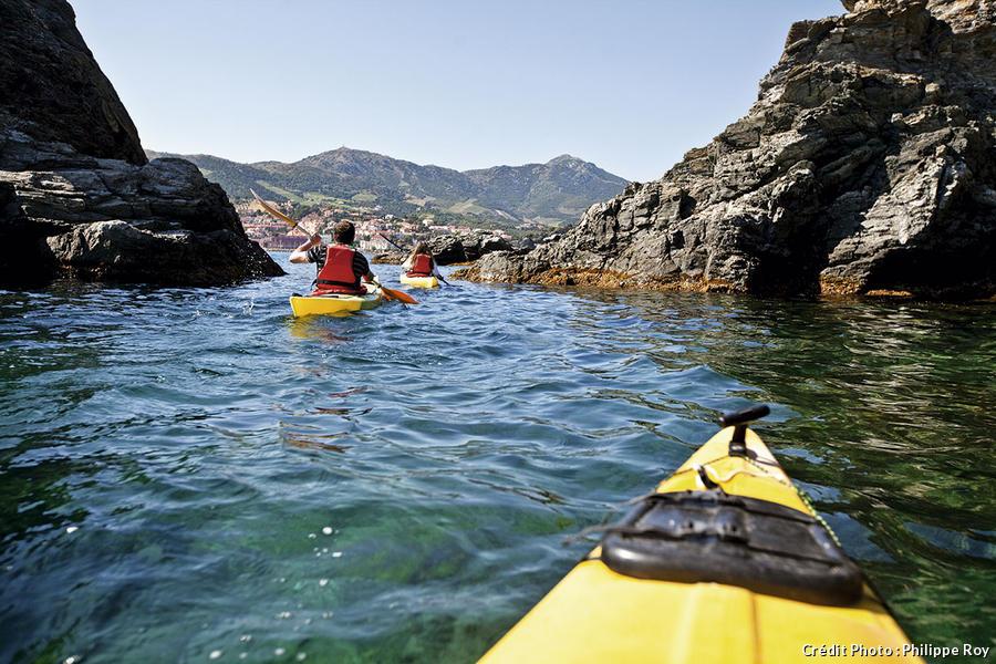 Les falaises de Banuyls en kayak de mer