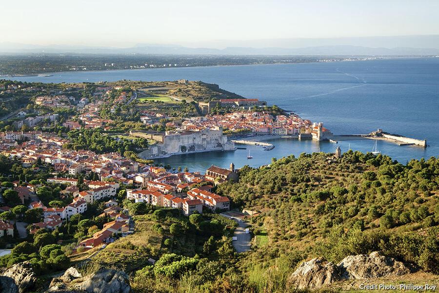 Vue aérienne de Collioure