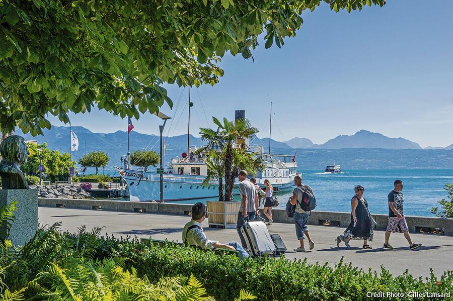 le versant suisse du lac Léman à Lausanne