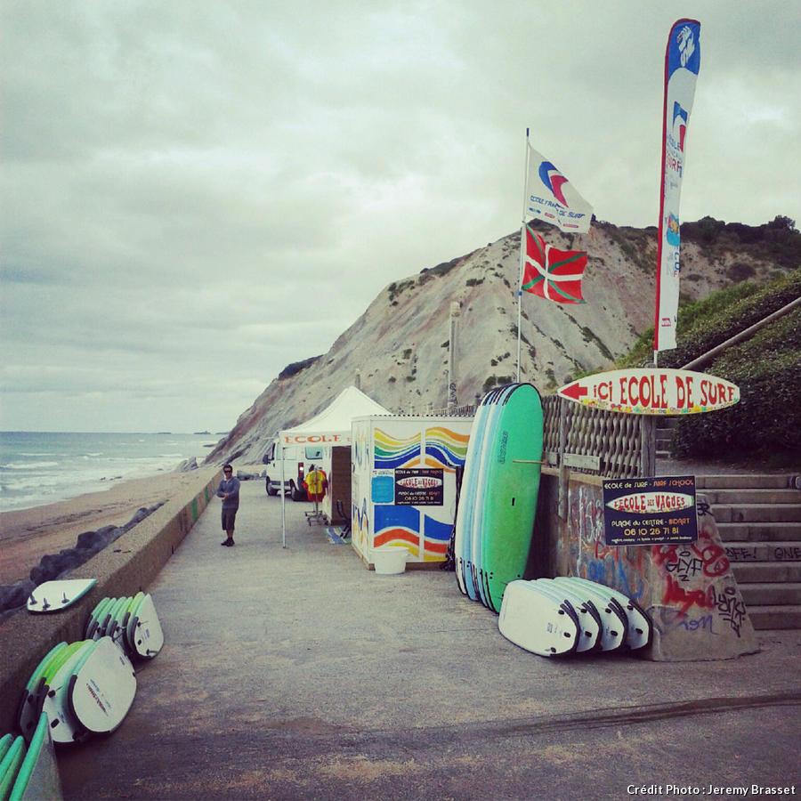 l'école des vagues à Bidart