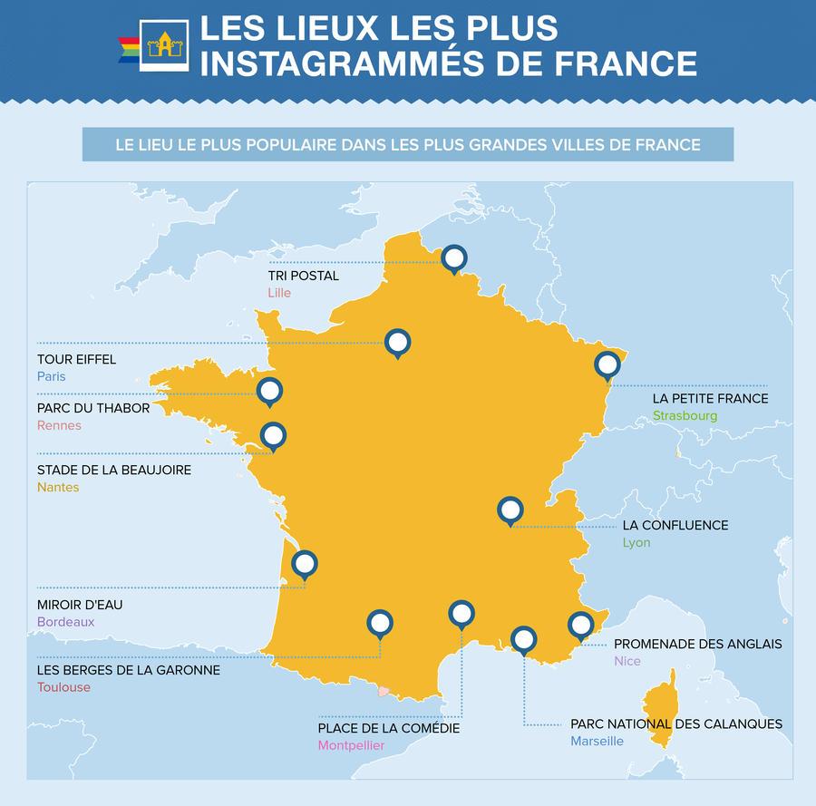 Les lieux les plus instagrammés de France