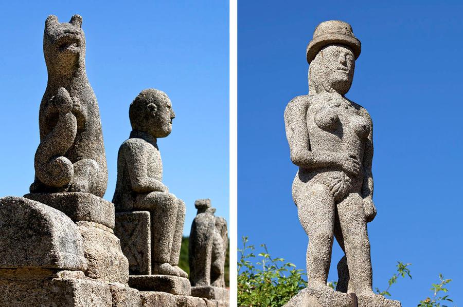 Statues de granit Masgot