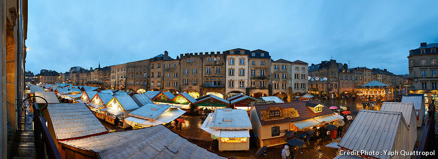 Panorama du marché de Noël de Metz