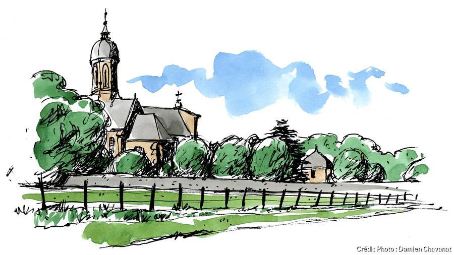 L'église abbatiale de Saint-Martin de Mondaye