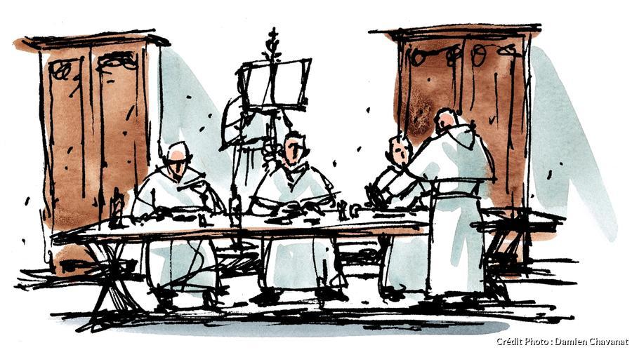 Le réfectoire du monastère