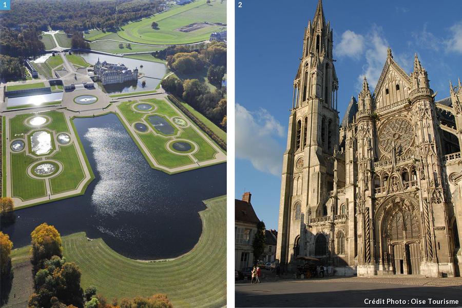 le Château de Chantilly et la cathédrale de Senlis