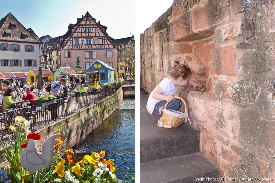Chasse aux œufs dans Colmar