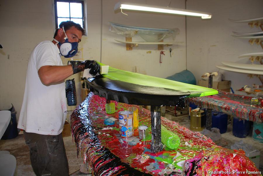 fabrication d'une planche de surf étape 2