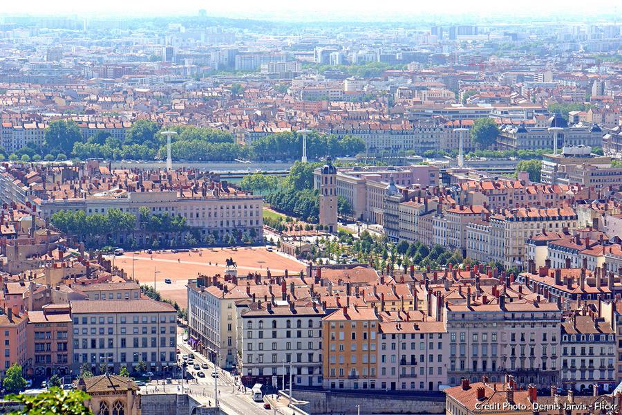 La place Bellecour à Lyon