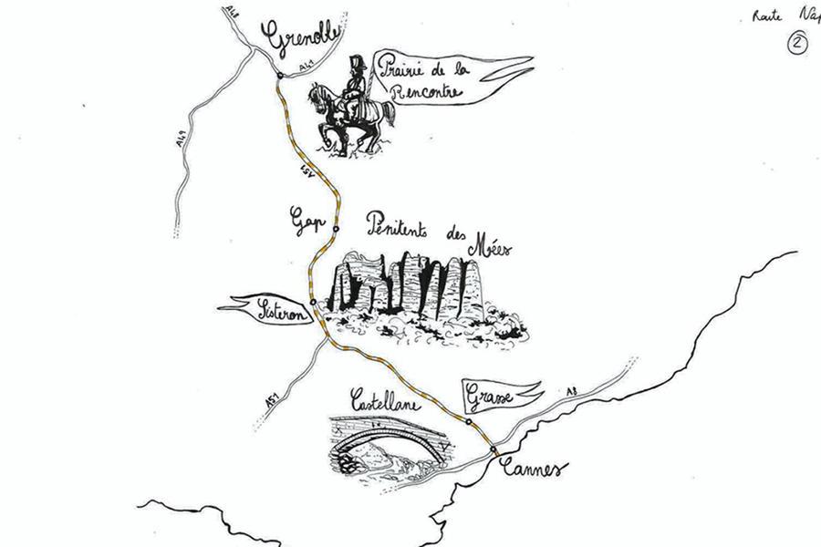 Itinéraire de la route Napoléon