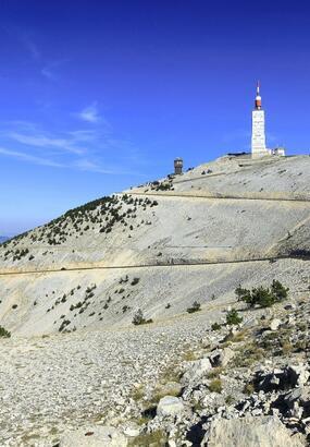 Une balade à vélo au pied du mont Ventoux
