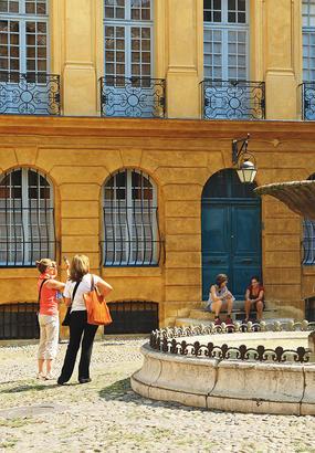 Place d'Albertas à Aix-en-Provence
