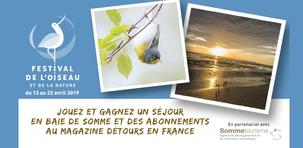 Des cadeaux à gagner à l'occasion de la 29ème édition du Festival de l'Oiseau et de la Nature