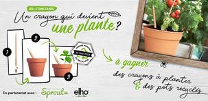 Objectif zéro déchet. Un crayon utilisé = un crayon à planter dans des pots en matières 100% recyclées.
