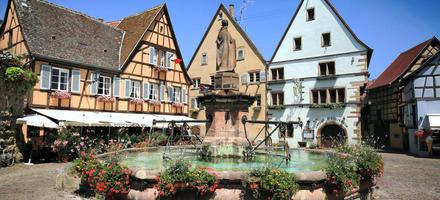 La fontaine Saint-Léon à Eguisheim