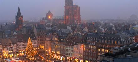 Le marché de Noël de Strasbourg sur la place Kléber