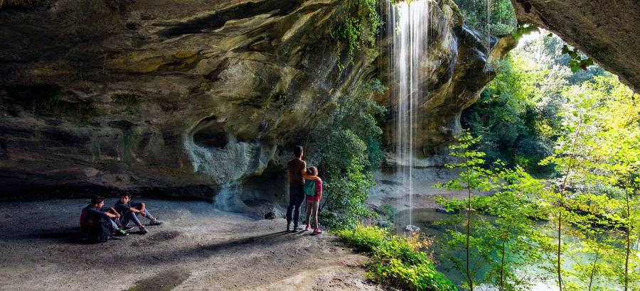Cascade de Baumicou en Ardèche