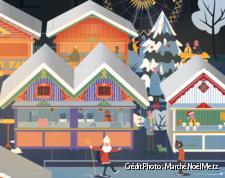 Affiche du marché de Noël de Metz