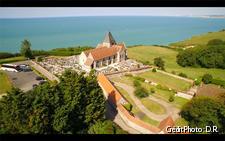 Eglise de Varengeville, vue aérienne.