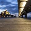 Le pont-passerelle du Mont-Saint-Michel