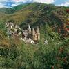 Conques, au creux de la vallée du Dourdou